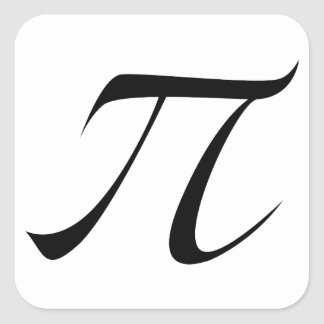 PI Symbol Square Sticker