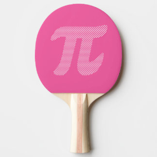 Pi symbol with a heart pattern ping pong paddle