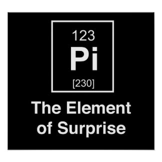 Pi The Element of Surprise Poster