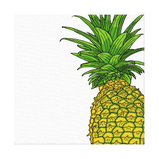 Pi the pineapple canvas print