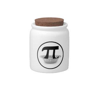 Pi Tin Candy Jar