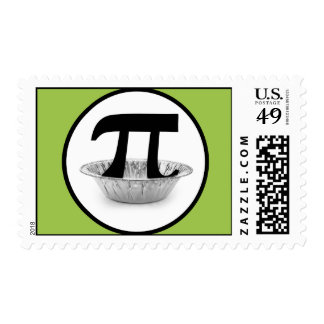 Pi Tin Postage Stamps (green background)