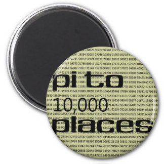 Pi to 10000 places 2 inch round magnet