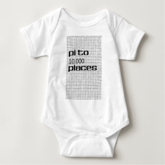Pi to 10000 places baby bodysuit