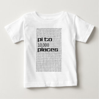 Pi to 10000 places baby T-Shirt
