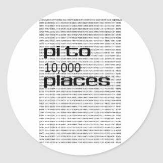 Pi to 10000 places classic round sticker
