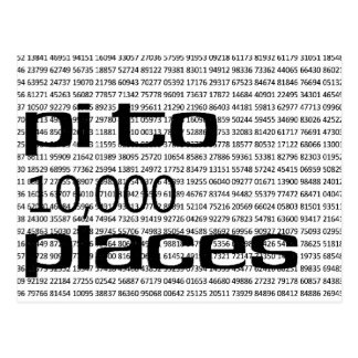 Pi to 10000 places postcards