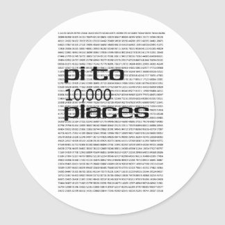 Pi to 10000 places stickers