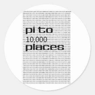 Pi to 10000 places round sticker