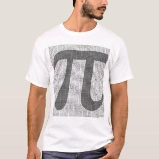 Pi To 10,000 Decimals T-shirt at Zazzle