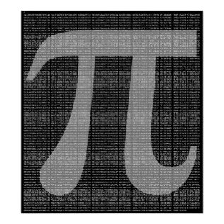 Pi To 10,000 Digits Poster Print at Zazzle
