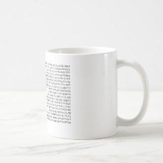 Pi to 1500 places coffee mug