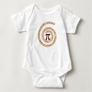 Pi to the Hundredth Decimal Place Baby Bodysuit