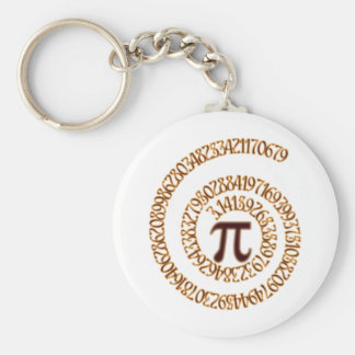 Pi to the Hundredth Decimal Place Basic Round Button Keychain