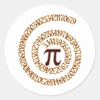 Pi to the Hundredth Decimal Place Classic Round Sticker