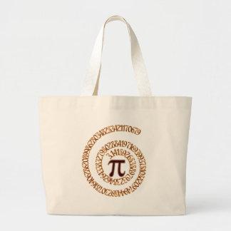 Pi to the Hundredth Decimal Place Large Tote Bag