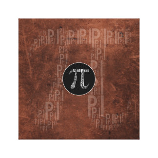 Pi Typed Design Text Symbol | grunge math canvas