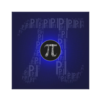 Pi Typed Design Text Symbol | math blue canvas