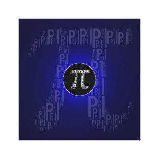 Pi Typed Design Text Symbol | math blue canvas Canvas Print