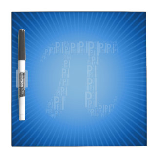 Pi Typed Text Symbol | Blue Dry Erase Board
