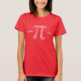 Pi Typed Text Symbol   Celebrate Geek T-Shirt