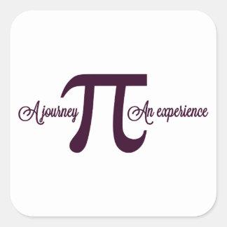 Pi: Un viaje. Una experiencia Pegatina Cuadrada