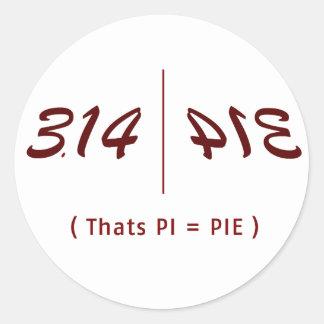 PI Value Classic Round Sticker