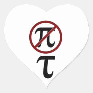 Pi vs Tao Heart Stickers