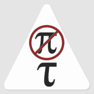 Pi vs Tao Triangle Sticker