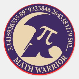 Pi Warrior Classic Round Sticker