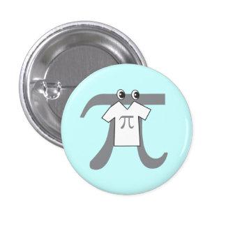 Pi wearing Pi Pinback Button