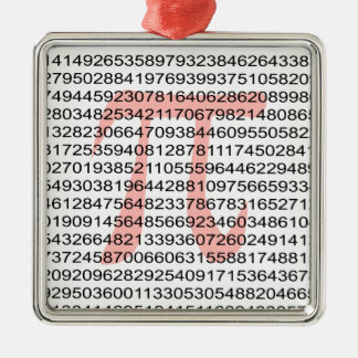 Pi with its number metal ornament