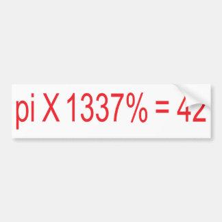 pi X 1337 42 Bumper Stickers