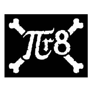 Pi x Radius to the 8th Power = Pirate Postcard