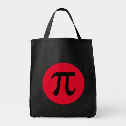 Pi y círculo bolsa tela para la compra