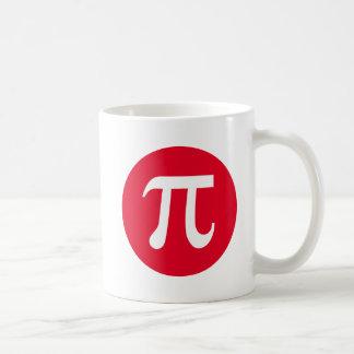 Pi y círculo taza básica blanca