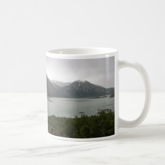 Pia Fjord Chile with Mare Australis at anchor Coffee Mug