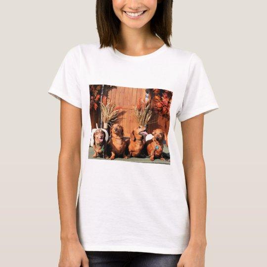 Pia Red Bink Rommel - Dachshund Photo-01 T-Shirt