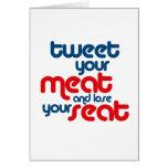 Pia su carne y pierde su asiento felicitacion