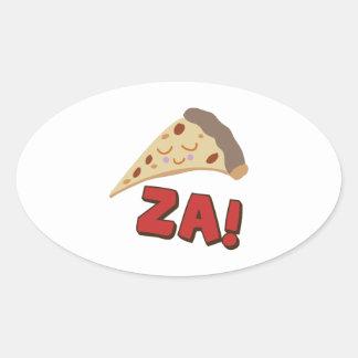 Pia Za Oval Sticker