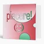 Piacere! Italy Flag Colors Pop Art Binders