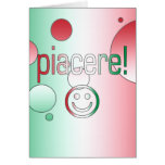 Piacere! Italy Flag Colors Pop Art Greeting Card