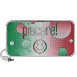 Piacere! Italy Flag Colors Pop Art Mini Speaker