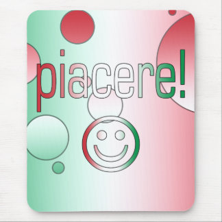 Piacere! Italy Flag Colors Pop Art Mouse Pad