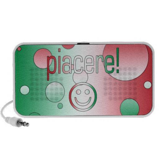 ¡Piacere! La bandera de Italia colorea arte pop iPhone Altavoces