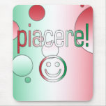 ¡Piacere! La bandera de Italia colorea arte pop Tapete De Raton