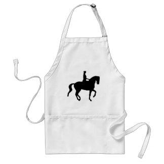 Piaffe Dressage Horse and Rider black Apron
