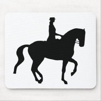 Piaffe Dressage Horse and Rider (black) Mouse Pad