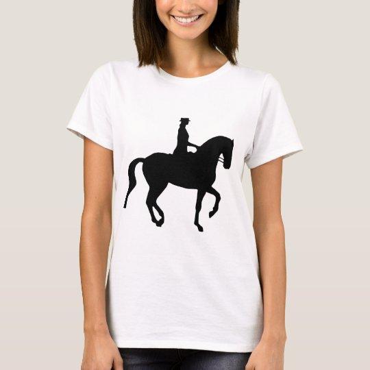 Piaffe Dressage Horse and Rider (black) T-Shirt