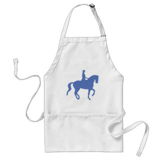 Piaffe Dressage Horse and Rider (blue) Adult Apron